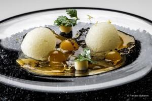 Disfrutar_Parmesan cheese_coquitos_egg yolk and truffle_Credit_Francesc Guillamet