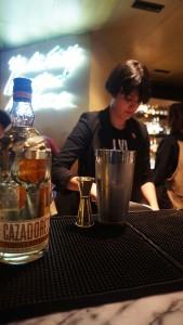 Olivia Aillo, tequila Cazadores